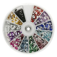Amazon.com: Premium MASH 1200 Piece 12 Color Nail Art Nailart 3D Design Tear Rain Drop Rhinestones: Beauty