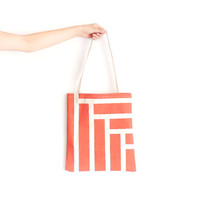 Canvas Tote Bag Coral Steps