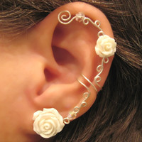 Non Pierced Cartilage  Ear Cuff  Conch Cuff by ArianrhodWolfchild