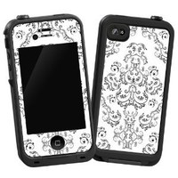 Amazon.com: Dainty Black and White Damask &quot;Protective Decal Skin&quot; for LifeProof 4/4S Case: Electronics