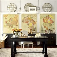Suzanne Kasler Map Giclee | Ballard Designs