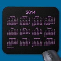 Neon Purple 2014 Calendar Mouse Pad from Zazzle.com