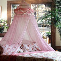 Princess Absolute Ruffle Princess Pink Canopy By Sid