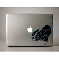 "Molly the Boston Terrier Decal for 13"" Macbook"