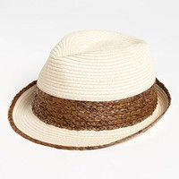BP. Two Tone Straw Fedora | Nordstrom