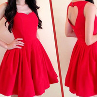 Back open heart dress made to order in size S M L by rushtar