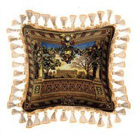 Fine Art Tapestries Le Chateau de Monceau Pillow - 2279-P - Pillows, Blankets & Slipcovers - Decor