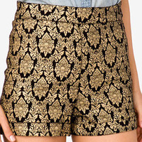 High-Waisted Damask Print Shorts | FOREVER 21 - 2024317117