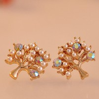 accessoryinlove  Fashion Sparkly Tree Earrings