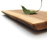 Natural Live Edge Wood Serving Board - Made of White Ash . Sustainable Harvest American Hardwood
