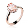 Fashion Rose Golden Citrine Ring