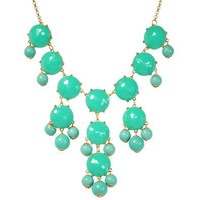Bubble Necklace, Green Necklace, Statement Necklace (Fn0508-Green): Jewelry: Amazon.com