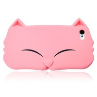 Pink Cat Face Soft silicon case for iPhone 4 / 4S