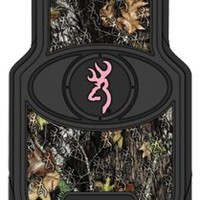 2 Browning Universal Pink Camo Floor Mats: Sports & Outdoors