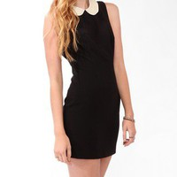 Pearlescent Collar Sheath Dress | FOREVER 21 - 2025102233