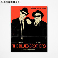 8x10 Art Print, Movie Poster Style Retro Pop Artwork, THE BLUES BROTHERS