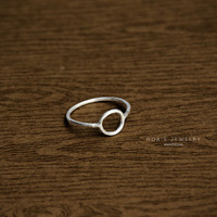 Circle ring Sterling silver by Hoas on Etsy