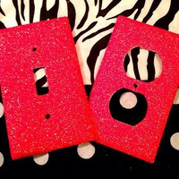 Glittered Cherry Popsicle Outlet/Light Switch Set