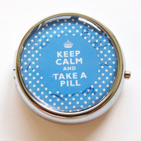 Pill Box case Keep Calm Take A Pill case Pill by KellysMagnets