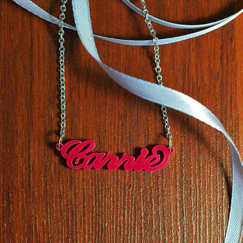 Acrylic Carrie Style Name Necklace
