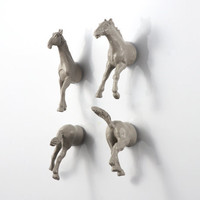 Wild Stallion Horse Magnet Set  4 piece by OriginalAnimalMagnet