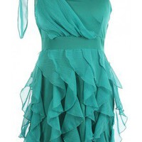 The Teal Ruffle Dress