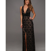 BCBGMAXAZRIA Serafina Lace Evening Gown Black - Zappos.com Free Shipping BOTH Ways