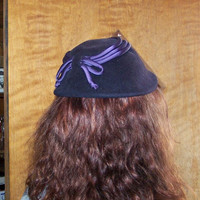 Vintage Navy Blue Hat