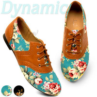 Womens Shoes Classics Dress Oxfords Ballet Low Heels Flats Loafers Floral Colors