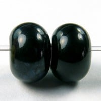 Black Handmade Lampwork Glass Beads Shiny Beads Glossy Beads SRA