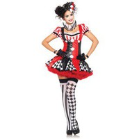 Harlequin Clown Adult Costume