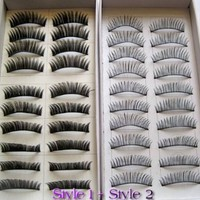 20 Pairs Regular Long and Thick Eyelashes Style 1 and 2: Beauty