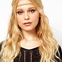 River Island Diamante Twisted Head Band at asos.com