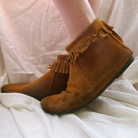 Vintage Ankle Moccasins by inzoopsia on Etsy