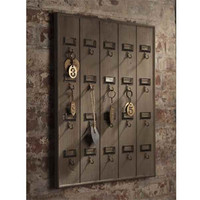 Vintage Inspired Hotel Key Rack | Rain Collection