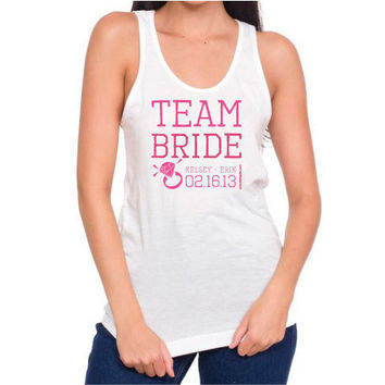 Team Bride - Personalized Fine Cotton Tanks by PamelaFugateDesigns