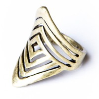 Brandy ♥ Melville |  Spiral Squares Ring - Just In