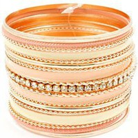 Peachy Keen Wrist Stack