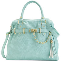 Steve Madden Handbag, Bnancy Snake Satchel - Satchels - Handbags & Accessories - Macy's