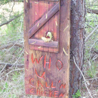 Who You Callin Chicken Handmade Barnwood Sign by TennesseeTins