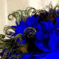 Royal Blue Peacock Feather Bouquet by LaPlumeEthere on Etsy