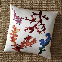 Coral Reef Silk Pillow Cover | west elm