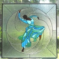 Judith Jamison Stained Glass Panel by AfricanSand on Etsy