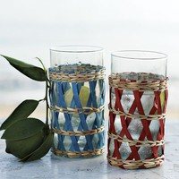 Woven Glassware Set | west elm