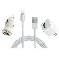 Amazon.com: iPhone 5 USB Cable, Car Charger 5V 1A White with AC Wall Charger Adapter for iPhone 5: Cell Phones &amp; Accessories