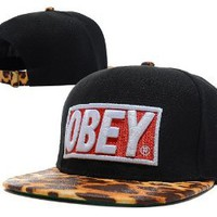 Amazon.com: New Obey Leopard Adjsutable Snapback Baseball Hip-hop Hat Cap: Toys & Games