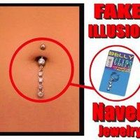 Illusion Fake Navel Jewelry (Assorted)