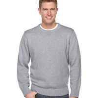 Double L Cotton Crewneck Sweater