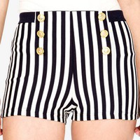 Striped Sailor Shorts | FOREVER 21 - 2035891361