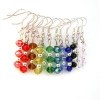 Rainbow Crystal earrings chakra crystal You by Mandyscharms